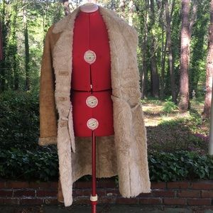 Express Tan Shearling Coat